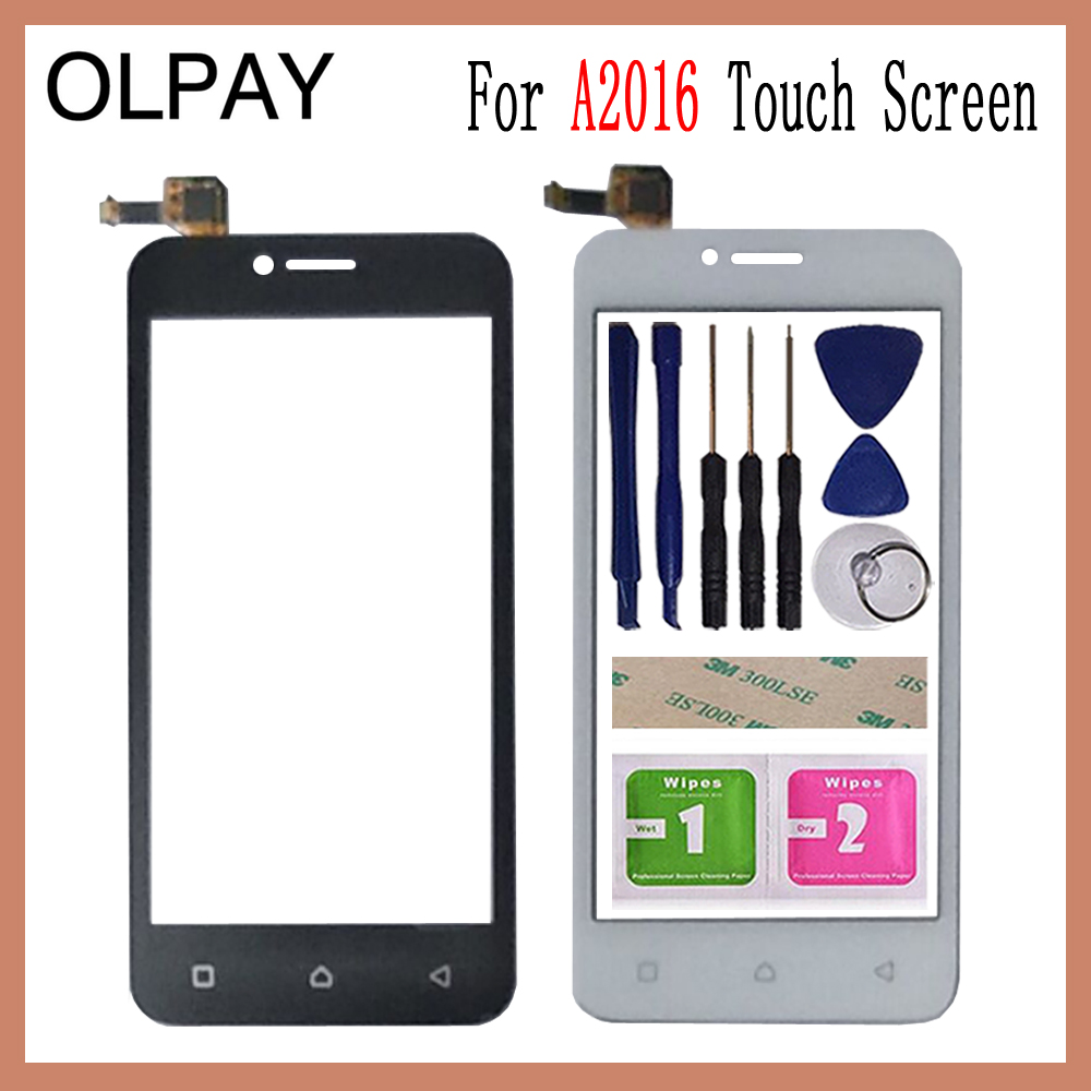 OLPAY 4.5'' Touch Glass Panel For Lenovo Vibe B A2016 A2016a40 A2016b30 Touch Screen Digitizer Glass Sensor Tools Free