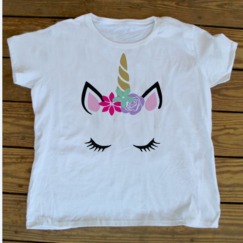 Mother Daughter Clothes Hotsale Unicorn Family Matching Tshirt Cute Baby Kids Mom Matching Outfits Family Look E300 in Matching Family Outfits from Mother Kids