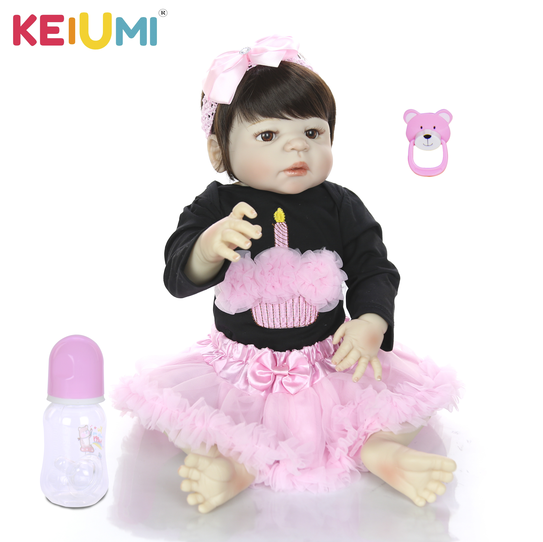 23 ''ที่ไม่ซ้ำกันตุ๊กตาเด็กทารก Reborn ซิลิโคนเต็มรูปแบบไวนิลสำหรับสาว Brinquedos ตุ๊กตาทารกตุ๊กตาของเล่นสำหรับเด็กของขวัญที่สมจริงเจ้าหญิง-ใน ตุ๊กตา จาก ของเล่นและงานอดิเรก บน   1