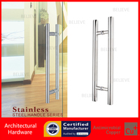 800mm 32 Inches Push Pull Stainless Steel Door Handle For Entrance Entry Glass Shop Store Interior