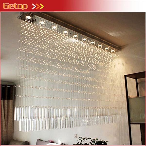 Beste Preis Luxus K9 Kristall Kronleuchter Rechteckigen Cut Kristall Lampe  LED Perlgardine Wohnzimmer Schlafzimmer Beleuchtung In Beste Preis Luxus K9  ...