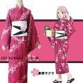 НАРУТО Харуно Сакура кимоно косплей аниме косплей хэллоуин Костюмы