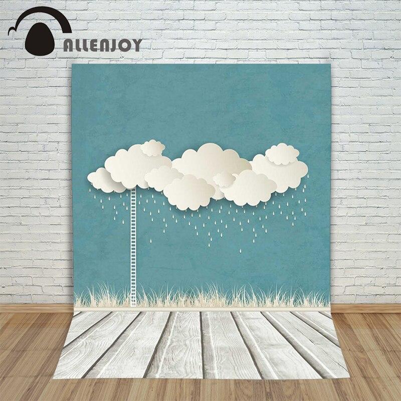 Allenjoy photographic background Paper-cut rain cloud children backdrops boy kids customize