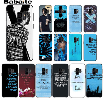 Pop Singer Star Ed Sheeran Soft silicone black Phone Case For Samsung Galaxy s9 s8 plus note 8 note9 s7 s6edge funda Babaite telephony