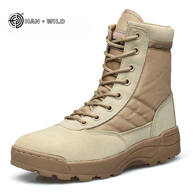 Männer Wüste Taktische Militärische Stiefel Herren Arbeit Safty Schuhe SWAT Armee Boot Militares Tacticos Zapatos Ankle Einsatzstiefel