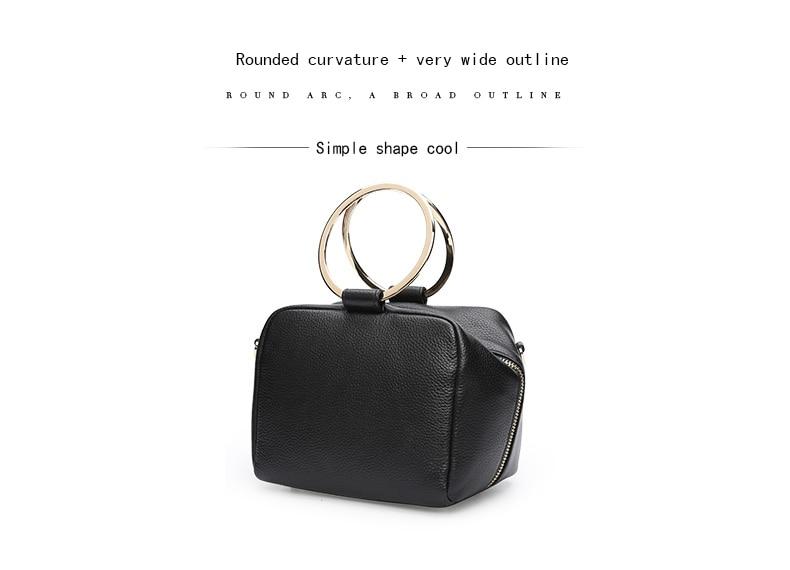 HONGU Luxury Cow Leather Handbags Women Bags Brands Ring Evening Purses Lady Mini Crossbody Shoulder Bags Female Messenger Totes     H5140080992 (7)