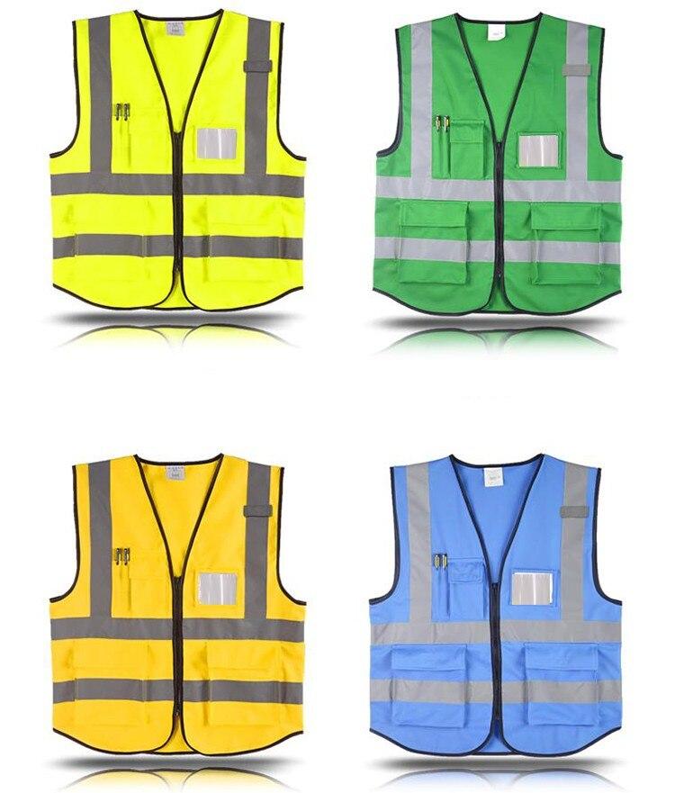 segurança colete reflexivo azul colete trabalho uniforme tráfego frete grátis