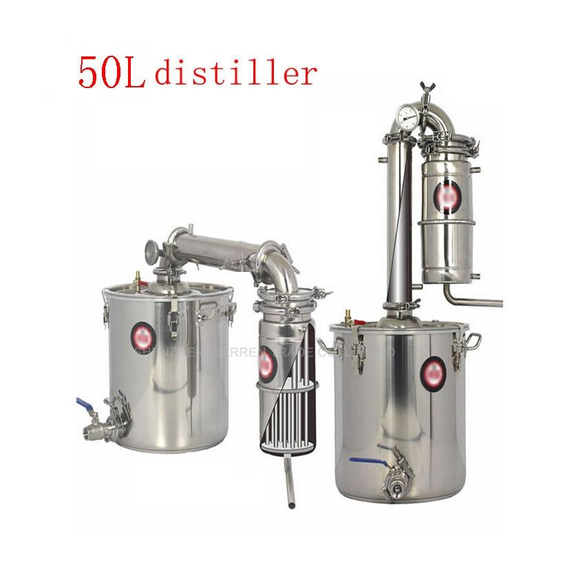 50L Distillateur Ménage Grande Capacité Distillateur D'alcool En Acier Inoxydable Moonshine