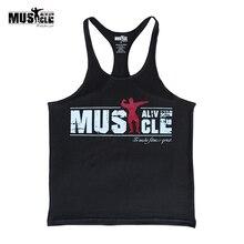 Майка для бодибилдинга, мужская спортивная одежда, Стрингер, фитнес-тренажерные залы, рубашка, брендовая одежда, для мышц, тренировки, хлопок, Regatas Masculino Casua