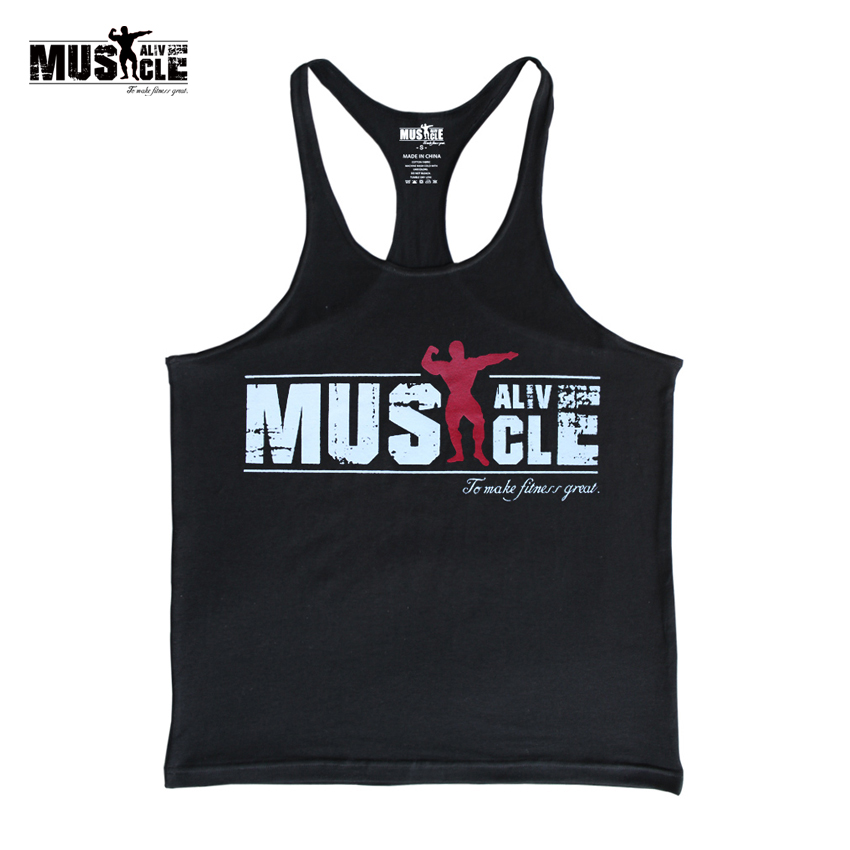 Bodybuilding Tank Top Män Gym-Kläder Stringer Fitness Gym Shirt Märke Kläder Muscle Workout Bomull Regatas Masculino Casua