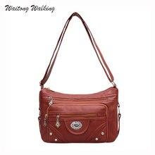 Luxury Women Bags Designer Fashion Brand Simple Hobos Leather Bag Ladies Vintage Messenger Rivet Handbags Bolsas Femininas b044