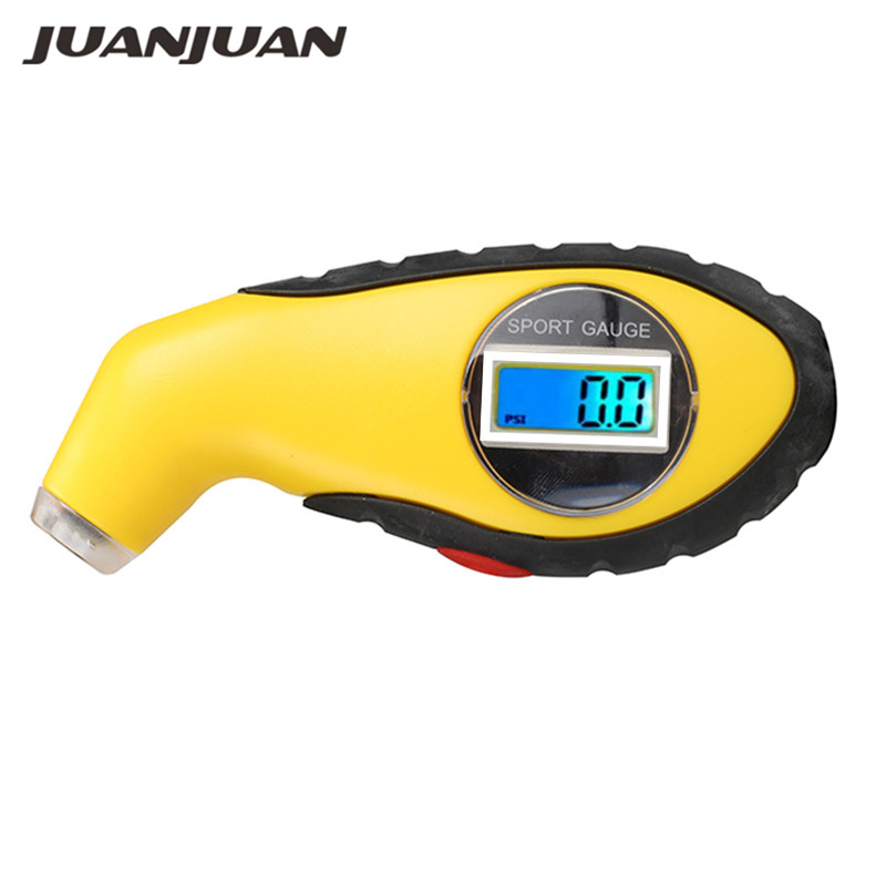 Tyre Air Pressure Gauge Meter Electronic Digital LCD Car Tire Manometer Barometers Tester Tool For Auto Car Motorcycle 14% Off