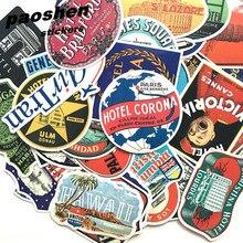 Hot Retro Mixed 55 pcs stickers Home decor on laptop Handbag sticker decal fridge skateboard cut doodle sticker toy stickers