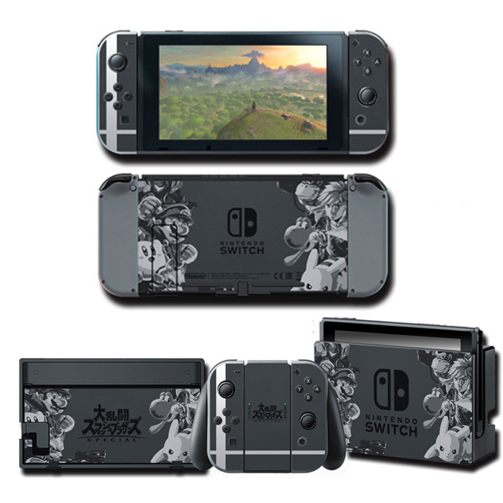 NS Game Super SmashBros. Skin Protector Sticker For Nintendo Switch NS Console+Controller+Stand Holder Protective Film Skin