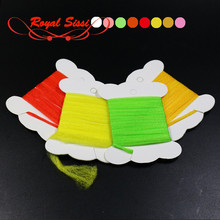 8 optional colors combed Polypropylene Floating Yarn 1yard card dry fly parachute post fibers spinner wings
