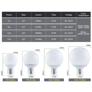 Image 4 - Led 電球ランプ 220 v 110 v ランパーダ led ライト E27 7 ワット 9 ワット 12 ワット 15 ワット smd 5730 led ライト & 照明 A60 A70 A80 A90 エネルギー節約ランプ