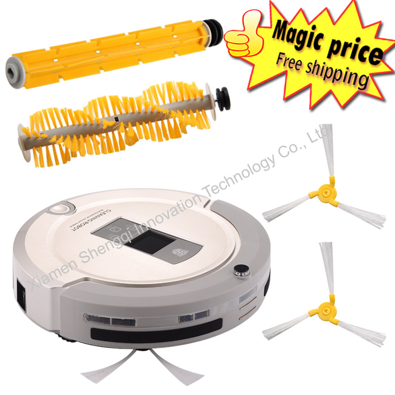 Most Advanced Robot Vacuum Cleaner A325 Multifunction(Sweep,Vacuum,Mop,Sterilize) Schedule Auto recharge Robotic Vacuum Cleaner free shipping 4 in 1 multifunction robot vacuum cleaner sweep vacuum mop sterilize touch screen schedule 2 way virtual wall
