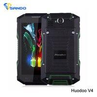 Oryginalny Huadoo Huadoo V4 V4 Szkło Gorilla IP68 Wytrzymały Wodoodporny Telefon MTK6582 Quad Core Android 4.4 5.0
