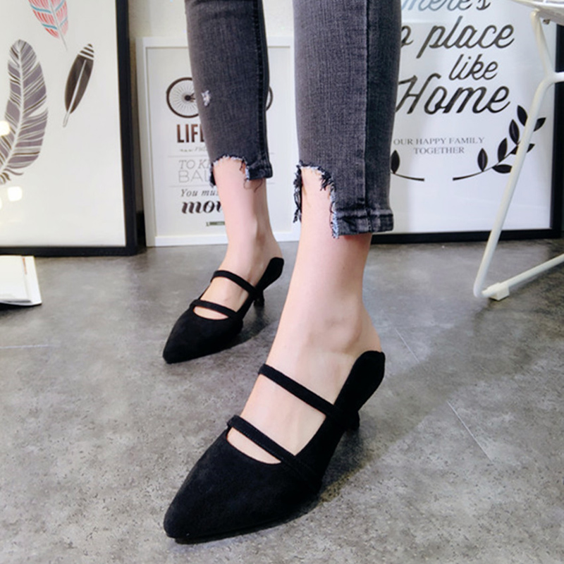 New Fashion 2017 Pointed Toe Pumps Women Stilettos Heels Shoes Woman Low Heel Pumps Spring Summer Suede Ladies Shoes new fashion woman flats spring summer women shoes top quality strappy women sandals suede pointed toe gladiator ballet pumps