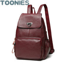 Бренд высокое качество овчины Разделение кожа Женщины Рюкзак Vintage школьная сумка для девочек-подростков повседневная женская обувь сумки на плечо