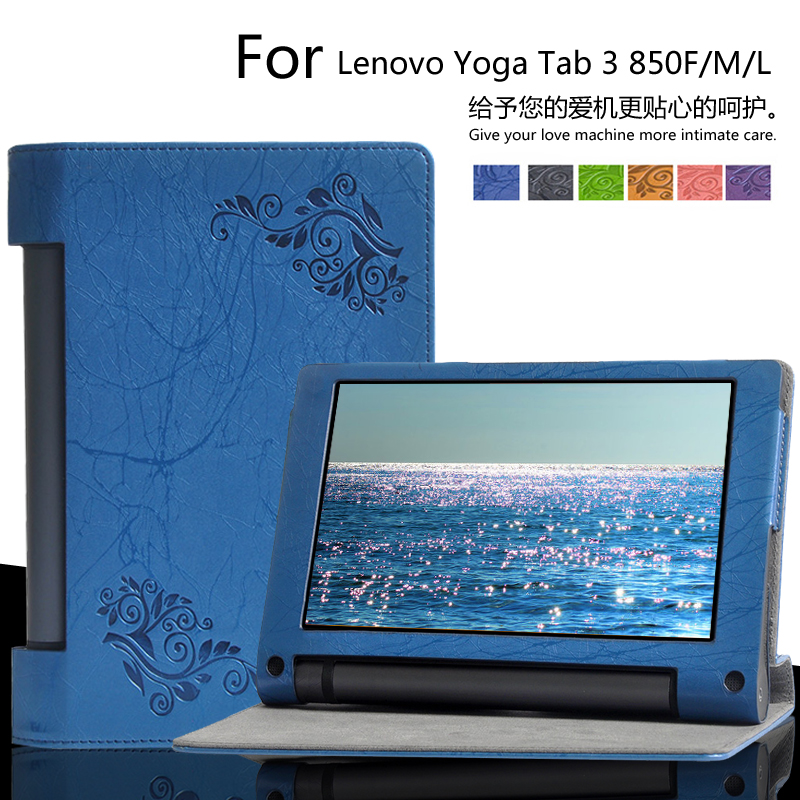 For lenovo Yoga tab 3 850F YT3-850F 850M 850L 8.0 inch Tablet Cases Floral Print PU Leather Case Cover + Gift mingshore durable protective case for yoga tablet 3 850 8 0 silicone cover for lenovo yoga tab 3 model 850f m l 8 0 tablet case
