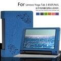 Para lenovo yoga tab 3 850f yt3-850f 850 m 850l 8.0 polegadas Tablet Cases Floral Imprimir PU Caso Capa de Couro + presente