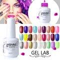 LABORATORIO DE GEL Elegir 1 Colores de 179 Colores No. 174-206 de La Perla Glitter UV/LED Lámpara Imprimación Base Top Coat Empapa de polaco Del Gel 15 ml
