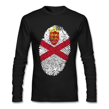 Plus Size Jersey Flag Fingerprint Men Bottoming T-shirt Geek Custom Long Sleeve Valentine's His And Hers T-shirts