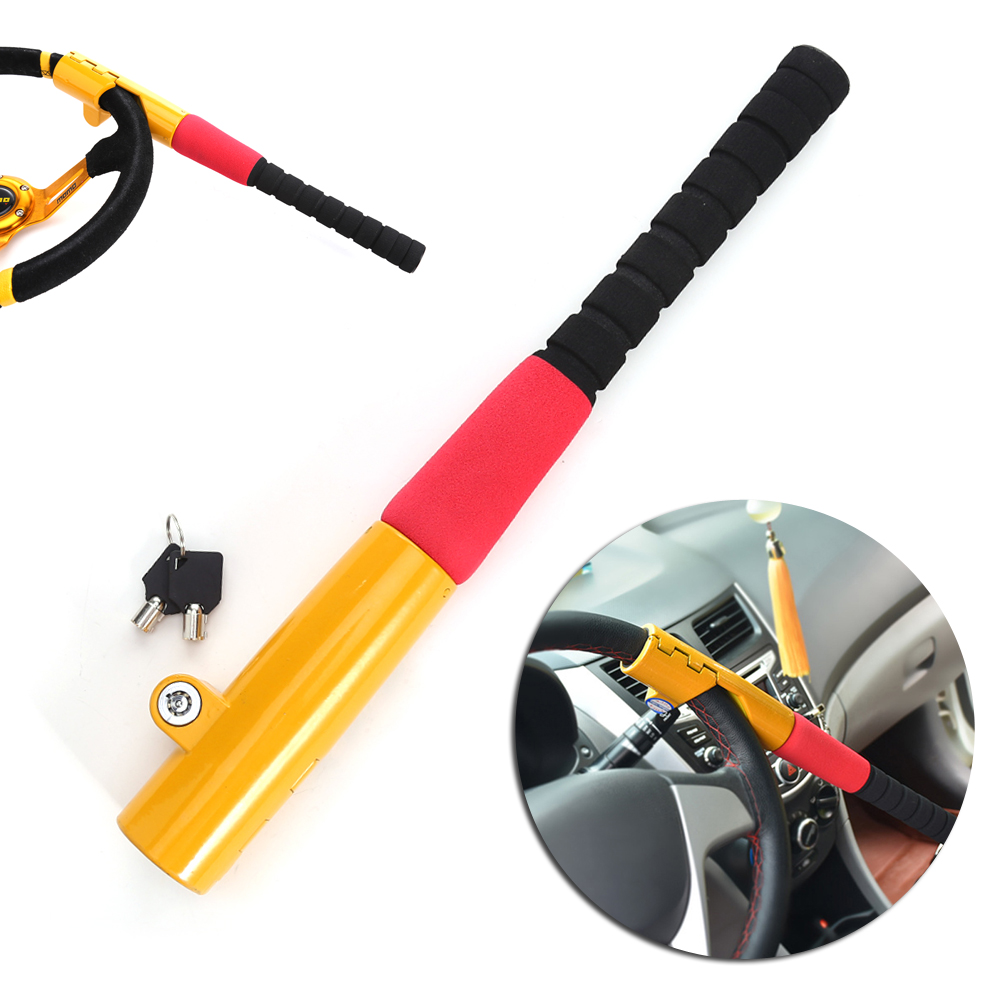 1Pcs Car Baseball Lock Steering Wheel Lock Auto Security Steering Wheel Lock Car Alarm Anti-theft Device Personal Safety New universal car steering wheel lock anti theft car locks accessories retractable theftproof lock