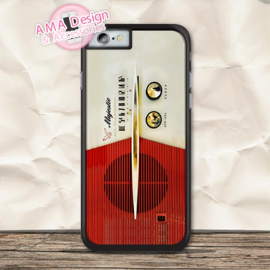 Retro Vintage Red Radio Protective Case For iPhone X 8 7 6 6s Plus 5 5s SE 5c 4 4s For iPod Touch