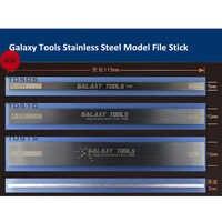 GALAXY Tools Acero inoxidable modelo de archivo Stick Hobby Craft pulido modelo de construcción Herramienta 5mm/10mm/15mm