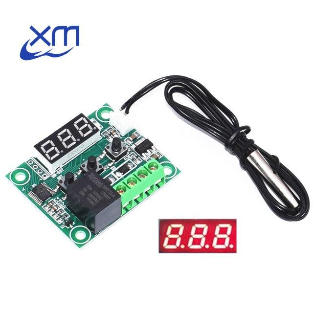 1 pz W1209 DC 12 v calore temperatura fresca termostato interruttore di controllo della temperatura regolatore di temperatura termometro w1209 led digital 50 cm