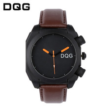 цена на Relogio Masculino Big Dial Men Watches Black Top Brand Luxury Mens Military men Sport Wristwatch Leather Quartz Watch montres