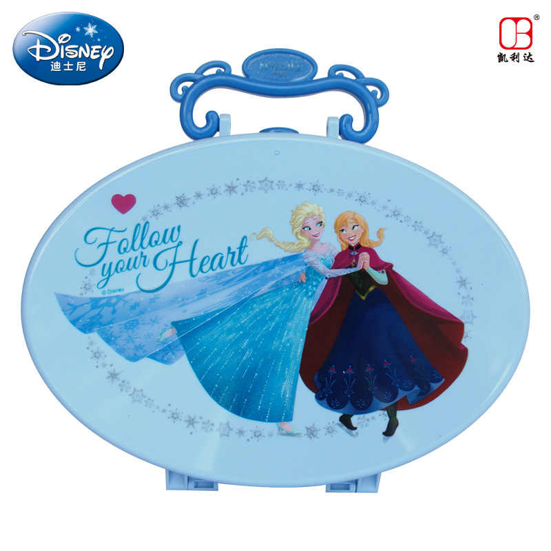 Disney замороженные дети макияж игрушки зима Романтика счастливый вальс Красота Макияж чемодан косметика детский макияж девочки игрушки подарок на день рождения