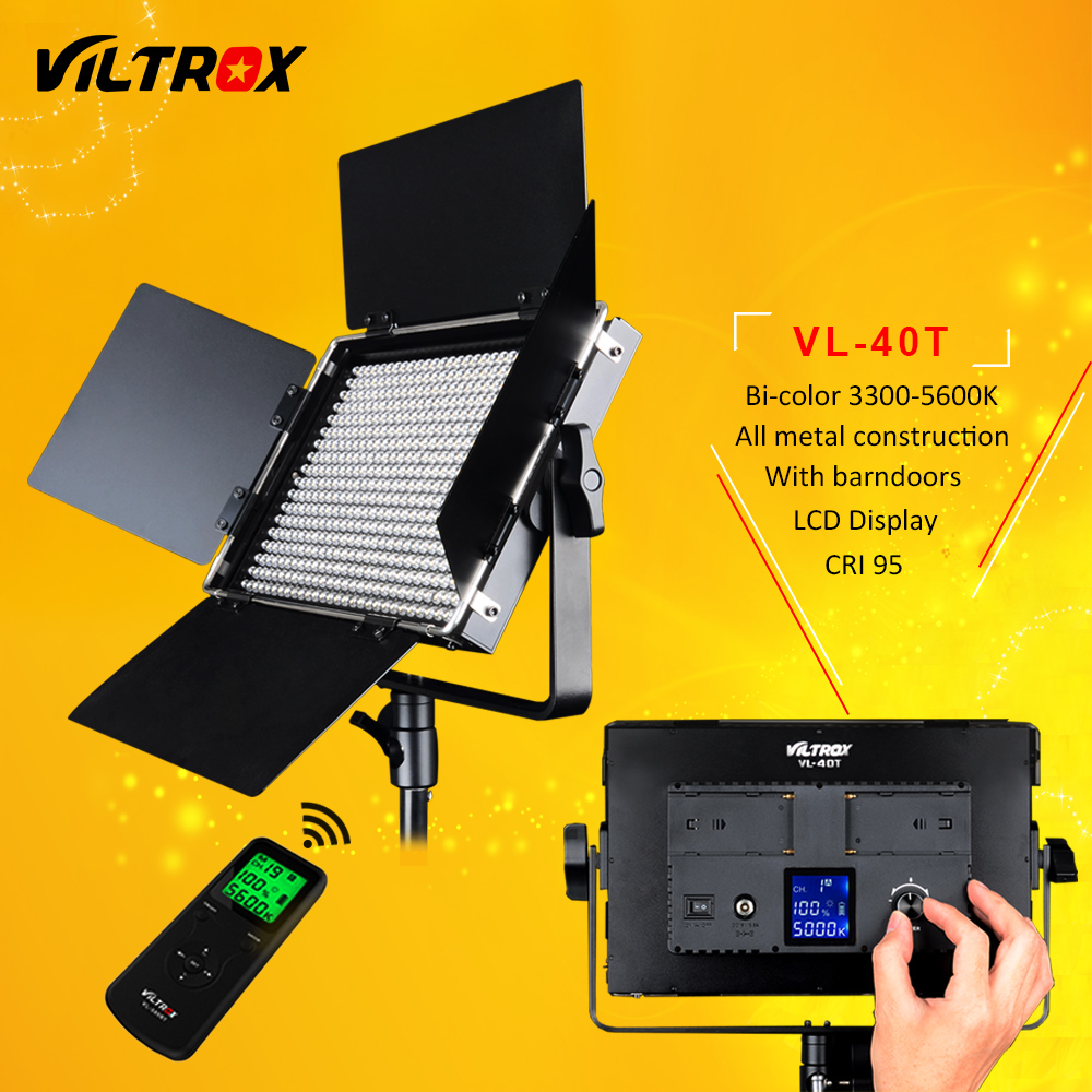 Viltrox VL 40T 540 LED Studio Video 3200K 5600K Slim Bicolor Dimmable LCD Light Lamp for
