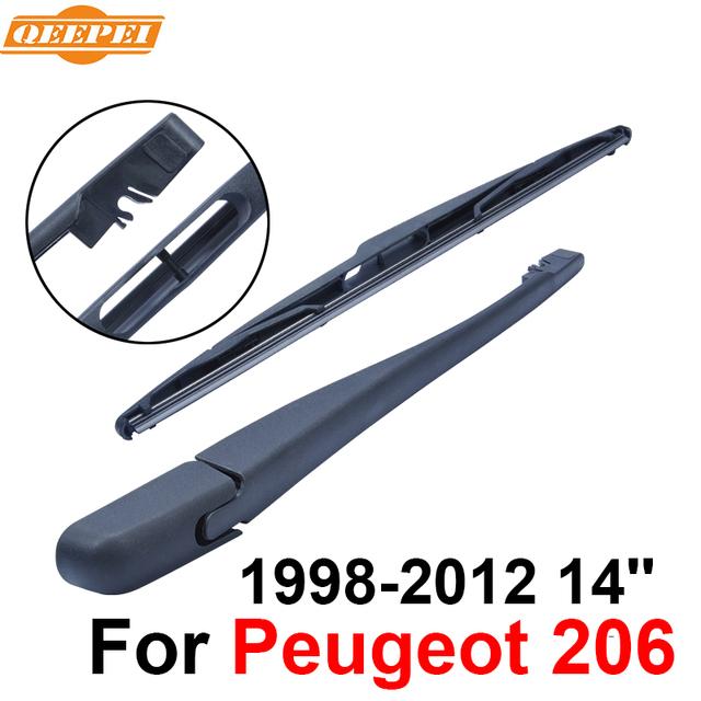 Qeepei traseiro limpa e braço para peugeot 206 1998-2012 14 ''08/hatchback de 5 portas de alta qualidade iso9000 borracha natural