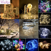 FENGRISE Wedding Decoration Events 2m LED Light String Waterproof Battery Bubble Party Supplies Festive Lantern Christmas Crafts