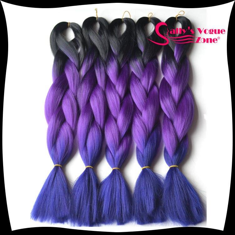 Ombre Synthetic Kanekalon Braiding Hair Afro Kinky 24inch 100g Pc 3