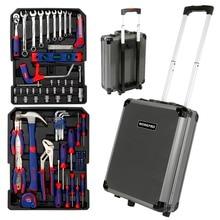 Kit de herramientas para el hogar, juego de cajas de aluminio, juego de herramientas para Carro de 111PC