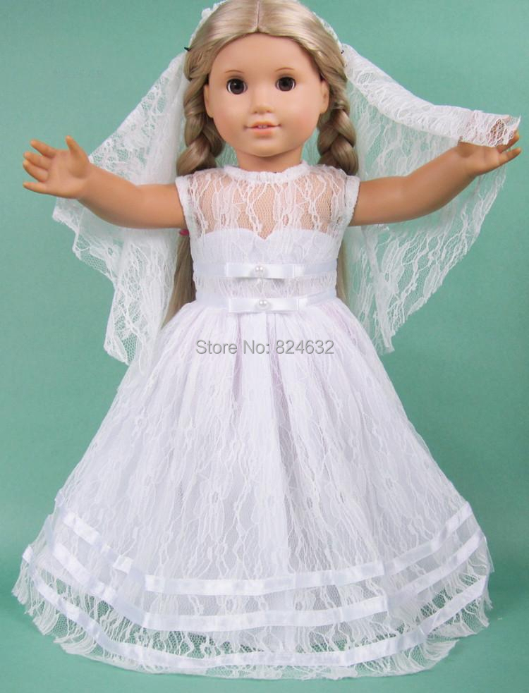 New 18 inch AMERICAN PRINCESS doll clothes outfit and wedding dress ...