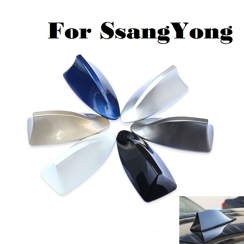 car styling Car Shark Fin Radio Antenna Auto sticker for SsangYong Actyon Chairman Korando Kyron Musso Nomad Rexton Tivoli sedan hot sale 1pc longhorn hilux 900mm graphic vinyl sticker for toyota hilux decals badges detailing sticker car styling accessories