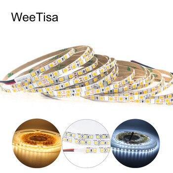 цена на 5M LED Strip 12V DC SMD 2835 4MM 8MM 120LEDs/M Slim Strip Light Warm White Flexible Tira LED Tape Stripe Ribbon Decor Lighting
