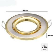 1 шт. точечный светодиодный энкастрируемый ориентированный lummen Blanc neute eq. 50 Вт золотого цвета Встраиваемый светодиодный светильник