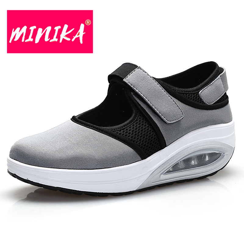 MINIKA New Arrival Women Casual Shoes Spring/autumn New Fashion Hook & Loop Women Shoes Round Toe Comfortable Flat Shoes Women minika new arrival 2017 casual shoes women multicolor optional comfortable women flat shoes fashion patchwork platform shoes