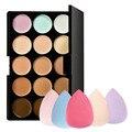 Nueva 15 Colores Contour Face Crema Corrector de Maquillaje Paleta + Esponja Puff Envío Libre y Venta Al Por Mayor