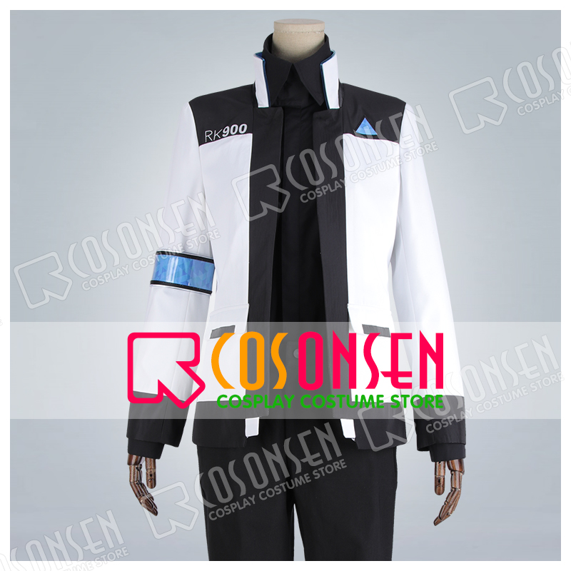 Detroit Become Human Connor 900 Cos Rk900 Agent Suit Uniform Cosplay