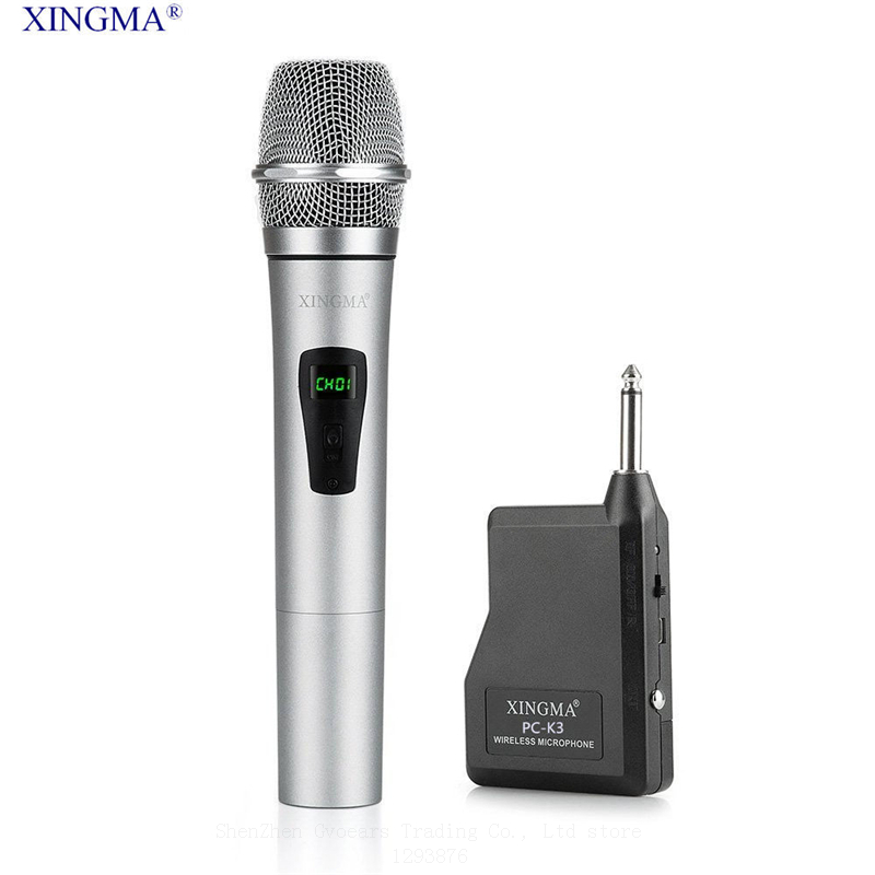 XINGMA PC-K3 Professional Wireless Microphone Dynamic Handheld Karaoke Mic Uhf With Receiver For KTV singing Speech Amplifiers  k068 wireless microphone microfone with mic speaker condenser mini karaoke player ktv singing record for smart phones computer