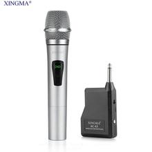 XINGMA PC-K3 Profesjonalny Bezprzewodowy Mikrofon Dynamiczny singing Karaoke Mikrofon Ręczny Uhf Z Odbiornikiem Dla KTV Mowy Wzmacniacze