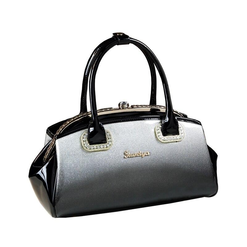 2018 marque de luxe sacs à main femmes sacs designer de haute qualité en cuir verni clip main forfait mariage de sac de soirée d'embrayage d'épaule