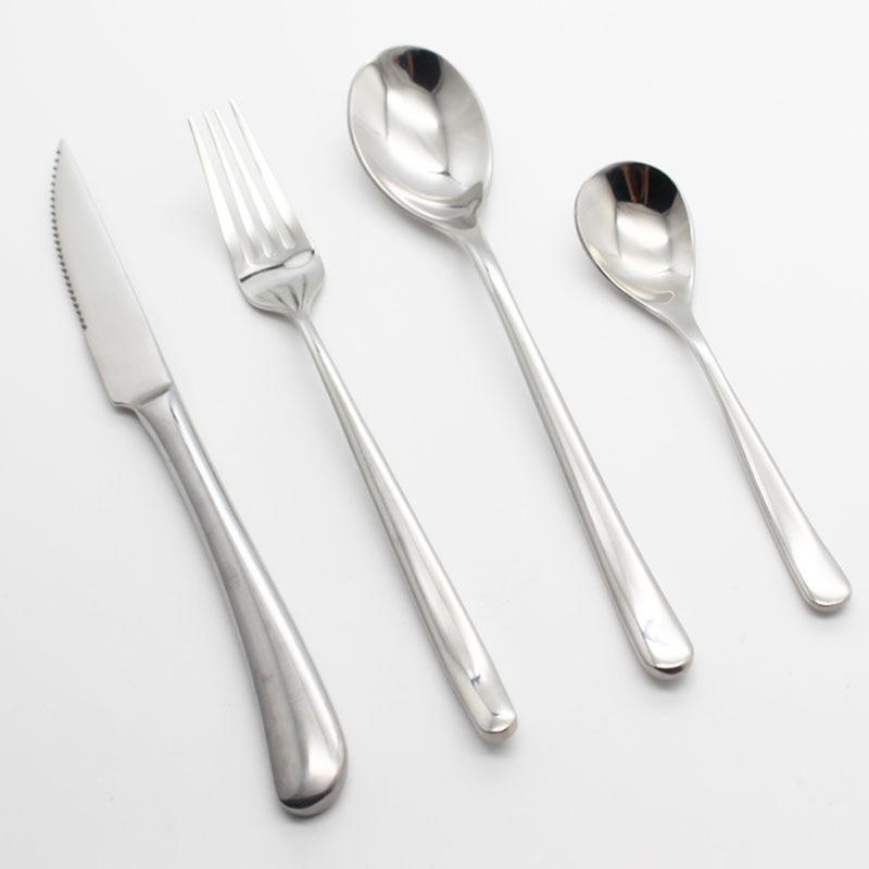 unidslote sliverware juego de vajilla vajilla de acero inoxidable cubiertos occidental cuchillo tenedor